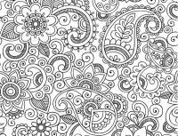 Раскраска антистресс цветы узоры