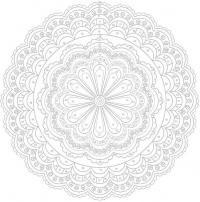 Раскраски для взрослых с эффектом антистресс, круг с цветком по центру
