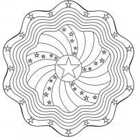 Раскраски для взрослых с эффектом антистресс, мандала со звездами