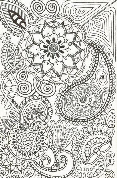 Узор Раскраски антистресс узор с цветами Раскраски распечатать