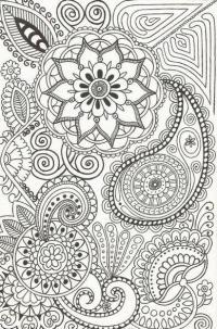 Раскраски антистресс узор с цветами