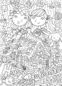 Раскраски антистресс. открытка с днем рождения
