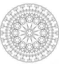 Раскраски антистресс, круглый узор составленный из цветов