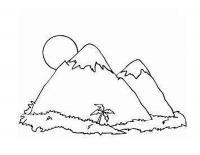 Детские раскраски для девочек и мальчиков. пальма, джунгли в горах