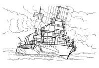 Скачать или распечатать раскраску распечатать скачать, военный корабль