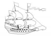 Скачать или распечатать раскраску распечатать скачать, деревянный корабль