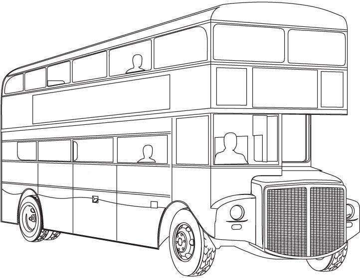 Картинки раскраски, автобус
