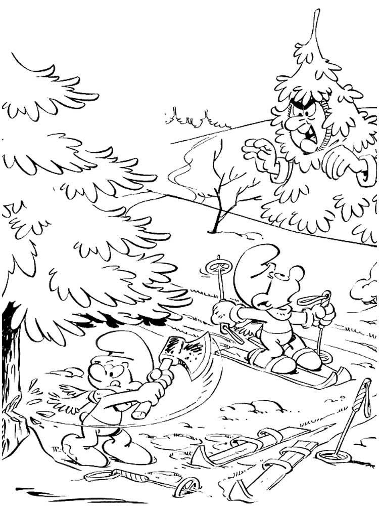 Скачать или распечатать раскраску распечатать скачать, гномики в лесу