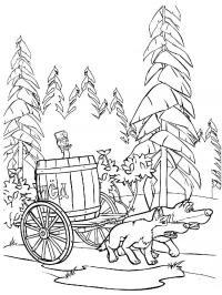 Волки тянут бочку меда с машей