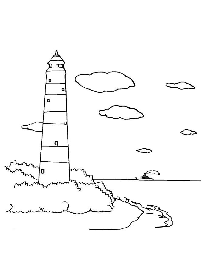 Детские раскраски для девочек и мальчиков. маяк