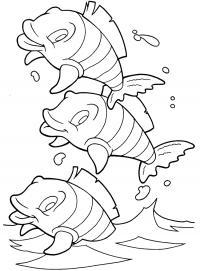 Маленькие обитатели моря. раскраски сказки дракона