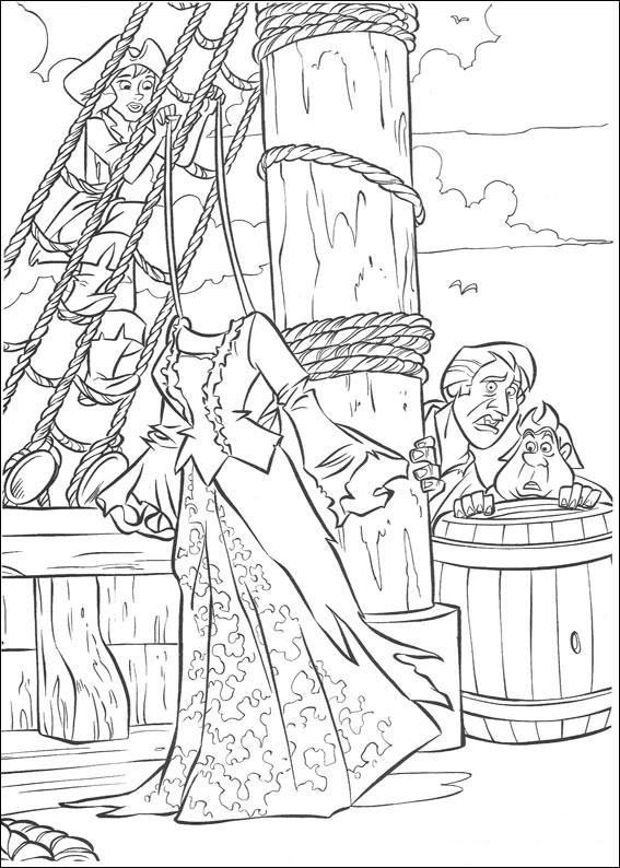 Распечатать раскраску пираты карибского моря
