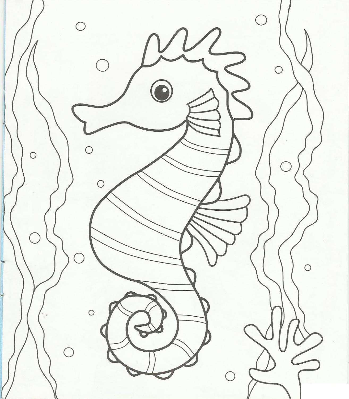 Раскраски морской природа морской конек подводный мир
