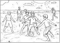 Раскраски дети праздник 1 июня день защиты детей дети футбол мяч игра лето