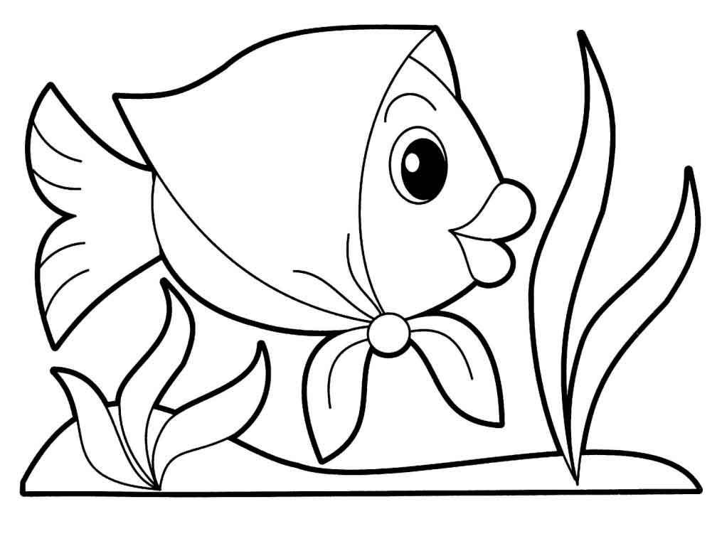 Рыбка в платочке, скачать или распечатать раскраску распечатать скачать
