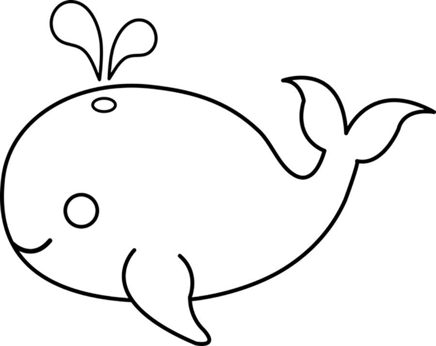 Раскраски рыбы кит, рыбы контур для вырезания и бумаги