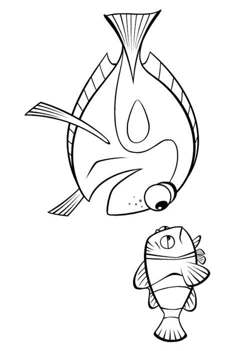 Рыбки - скачать и распечатать раскраску.