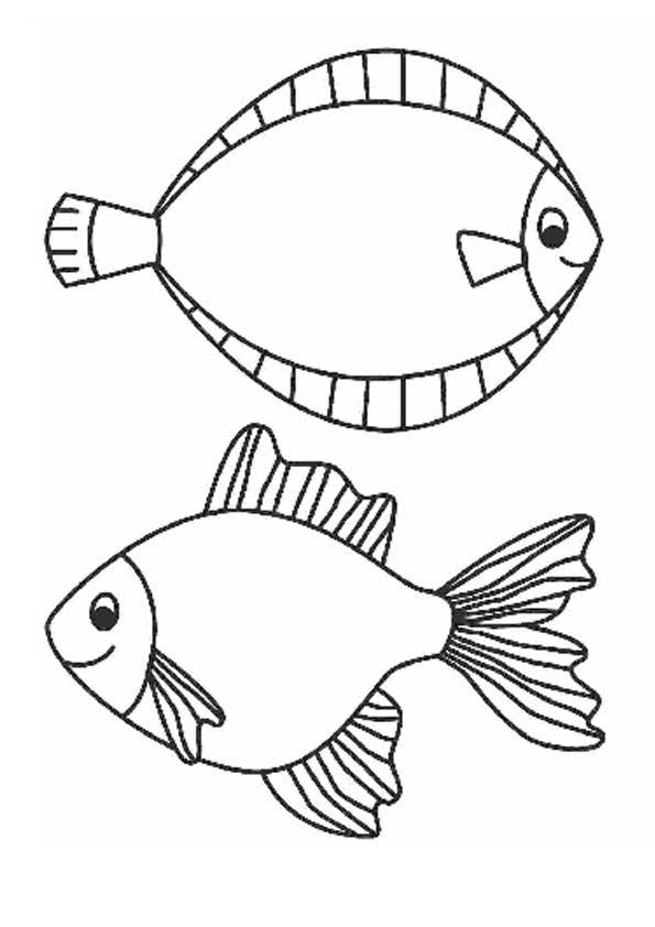 Морские раскраски, рыбки