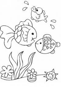 Рыбки на дне моря