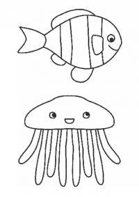 Рыба и медуза