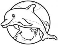 Раскраски подводный мир подводный мир, раскраска дельфин