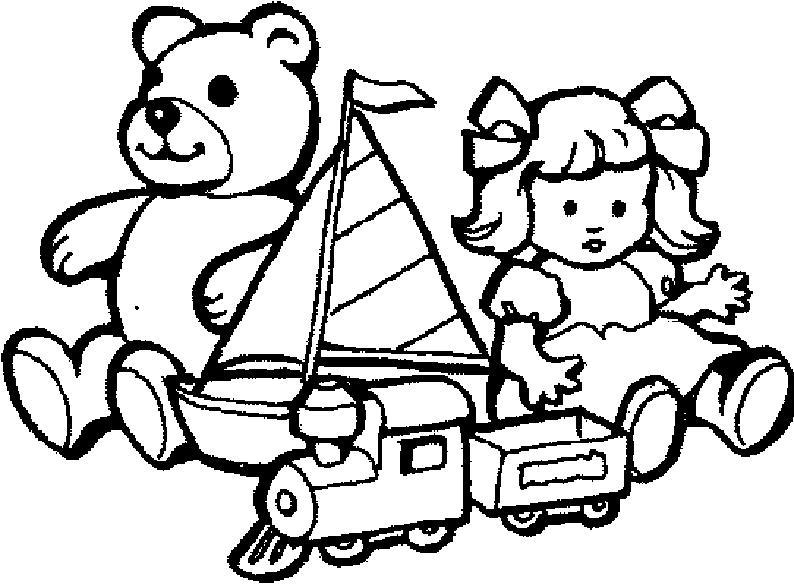 Раскраски детский мир, игрушки, медведь