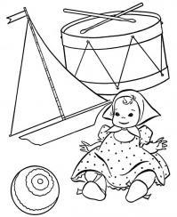 Раскраски детский мир, игрушки