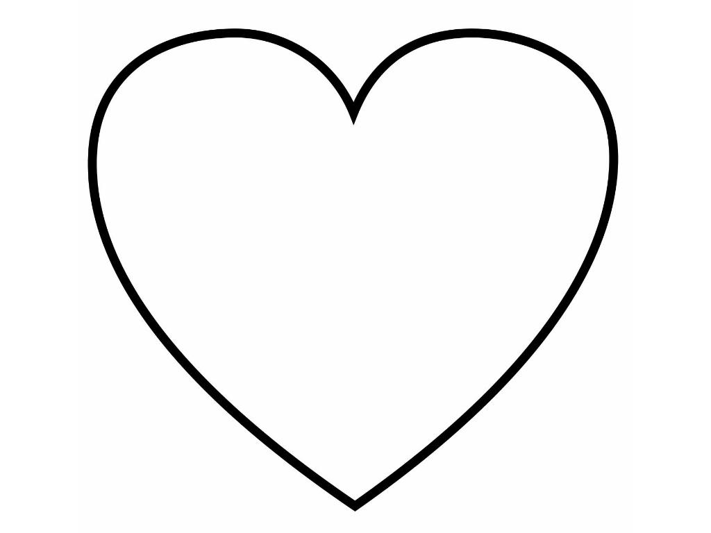 Распечатать сердечки для раскраски