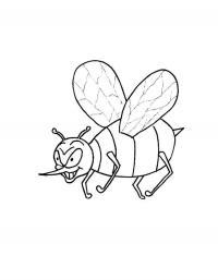 Детские раскраски для девочек и мальчиков. злая пчелка