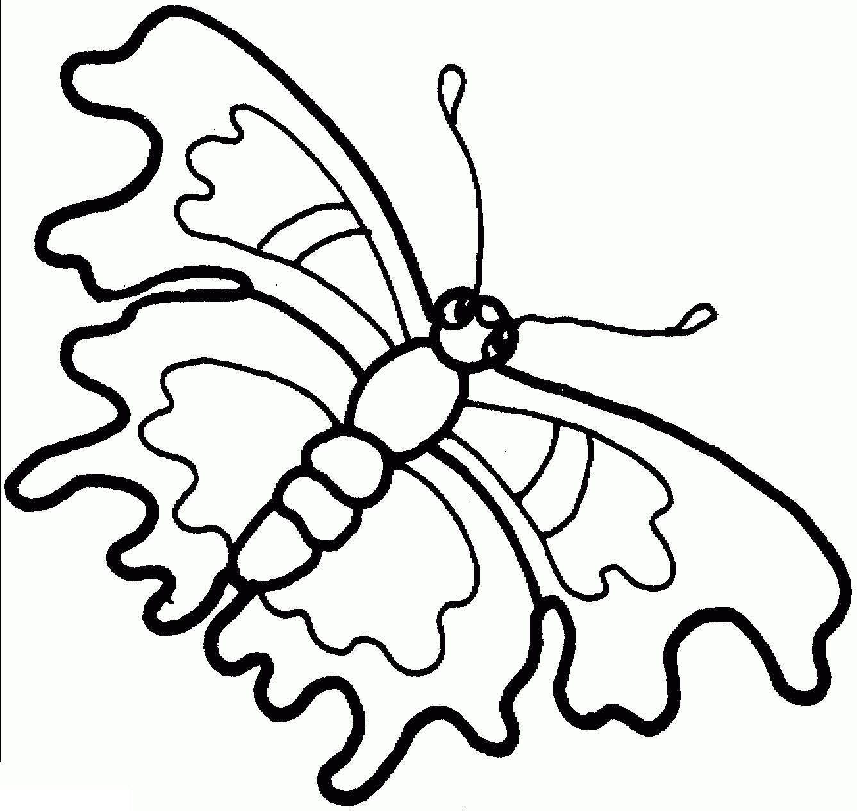 Раскраски бабочка с рваными крыльями