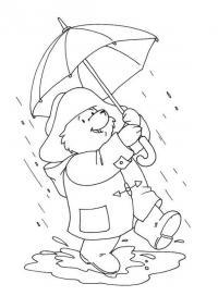 Раскраски явления природы раскраски для детей, явления природы, природа, винни пух, дождь, медвежонок