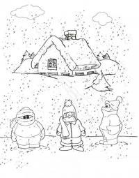 Раскраски явления природы раскраски для детей, явления природы, природа, мороз, снег, снегопад, на улице холодно