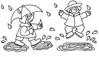 Раскраски явления природы природа явления природы дождь лужи