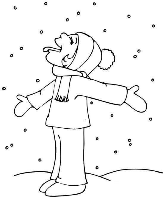 Раскраски явления природы раскраски для детей, явления природы, природа, снег, мальчик