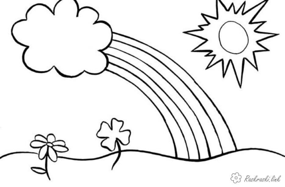 Раскраски явления раскраски для детей, явления природы, природа, радуга, солнце