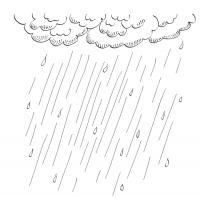 Раскраска. явление природы - дождь