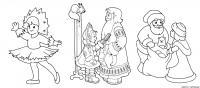 Раскраски деда мороза и снегурочки для детей
