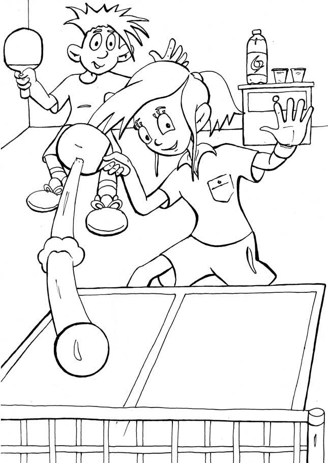 Раскраски спорт настольный теннис раскраска, спортивные игры
