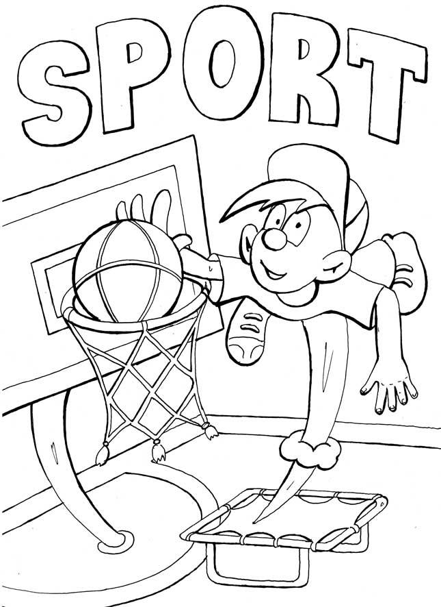 Раскраски спорт баскетбол, кольцо, мальчик, спорт