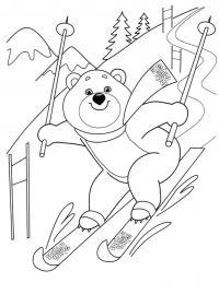 Раскраски олимпиада в сочи мишка