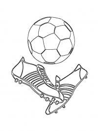 Раскраска футбольный мяч и бутсы. раскраска обувь для футбола раскраска, раскраска спорт, раскраски про спорт для детей