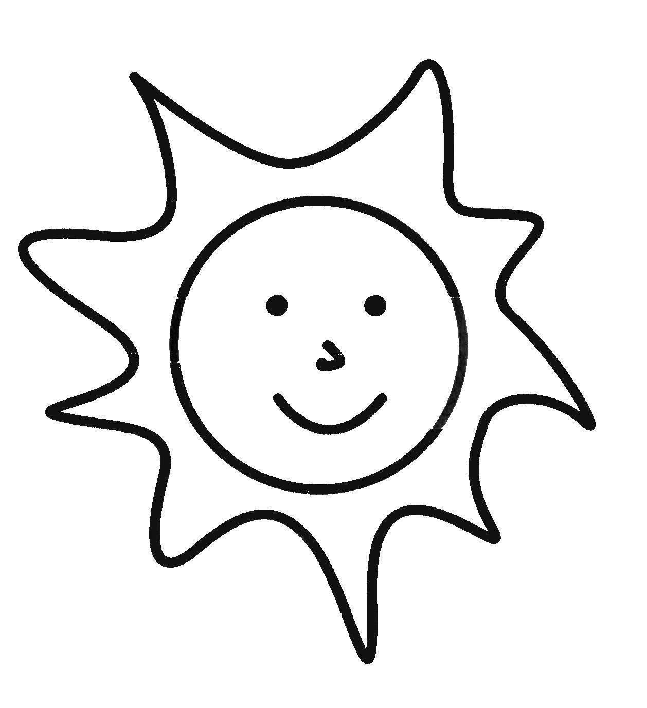Раскраски солнце веселое солнце раскраска