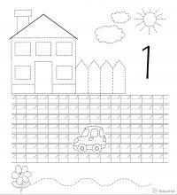 Раскраски солнце дом солнце цифра один подготовка руки к письму