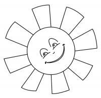 Разукрашка игривое солнце