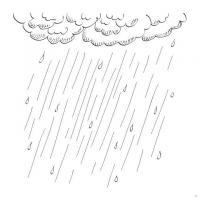 Раскраски дождь раскраски для детей, явления природы, природа, дождь, туча