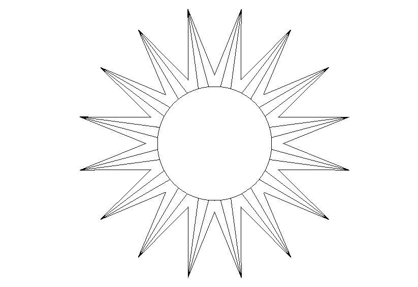 Для скачивания раскраска солнышко