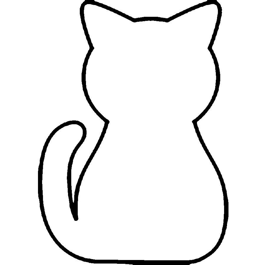 Раскраски вырезания кошка контур, животные для вырезания из бумаги