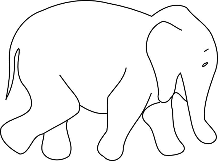 Раскраски вырезания слон контур, животные трафарет для вырезания из бумаги