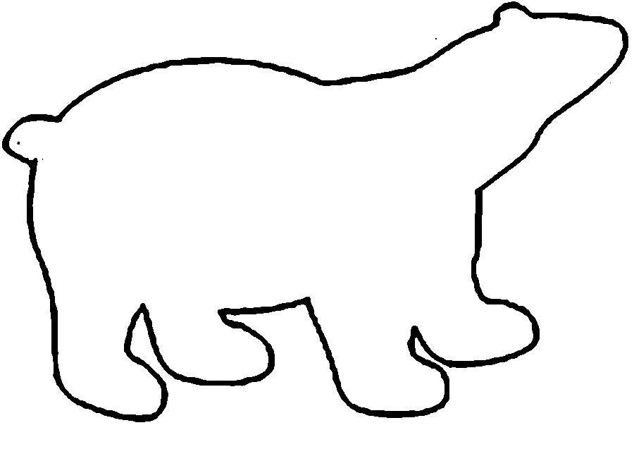 Раскраски вырезания медведь контур, животные  трафаркт для вырезания из бумаги