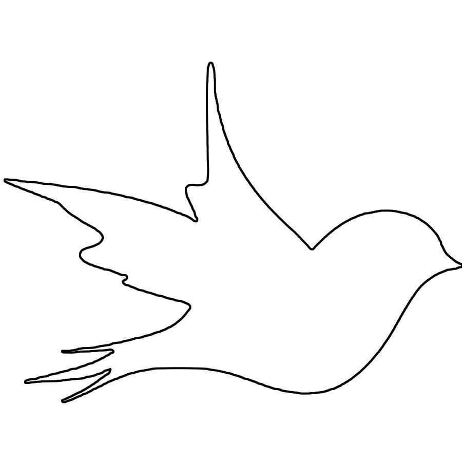 Раскраски шаблоны большая птица контур для вырезания из бумаги